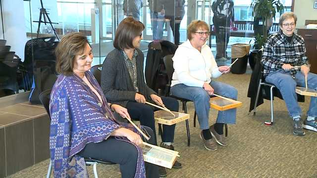 Therapeutic group features drums, support and fun for cancer patients, survivors