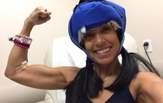 Mum in her fifties says staying super fit at the gym throughout chemotherapy saved her from cancer