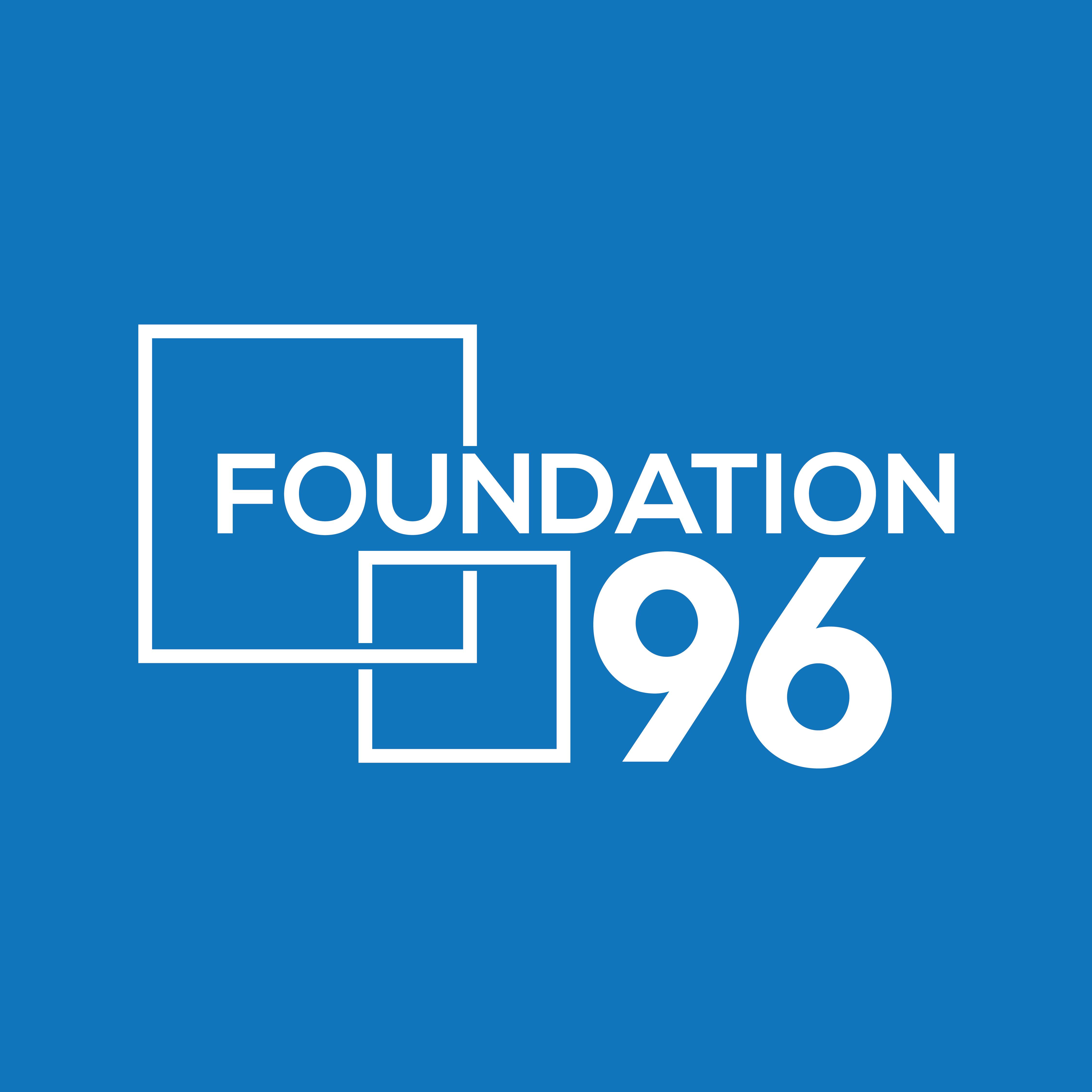Foundation96LogoOnBlue 01 1